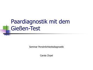 Paardiagnostik mit dem Gie�en-Test