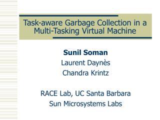 Task-aware Garbage Collection in a Multi-Tasking Virtual Machine