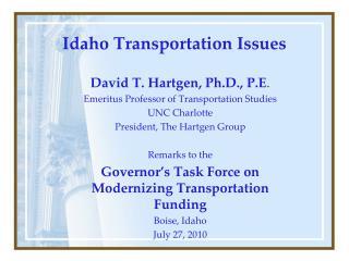 Idaho Transportation Issues