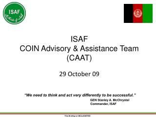 ISAF COIN Advisory & Assistance Team (CAAT)