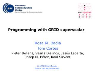 Programming with GRID superscalar