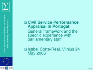 Civil Service Performance Appraisal in Portugal :