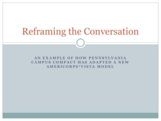 Reframing the Conversation
