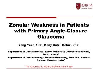 Zonular Weakness in Patients with Primary Angle-Closure Glaucoma