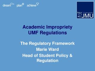 Academic Impropriety UMF Regulations