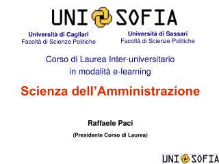 Università di Cagliari Facoltà di Scienze Politiche