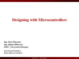 Designing with Microcontrollers
