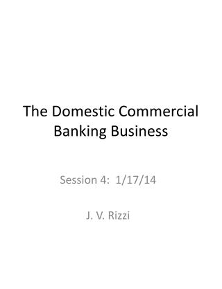 The Domestic Commercial Banking Business