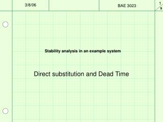 Stability analysis in an example system