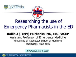 Researching the use of Emergency Pharmacists in the ED