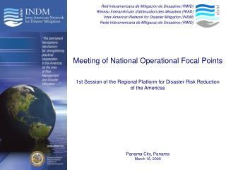 Red Interamericana de Mitigación de Desastres (RIMD)