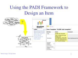 Using the PADI Framework to Design an Item