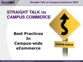 Best Practices In Campus-wide eCommerce