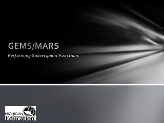 GEMS/MARS