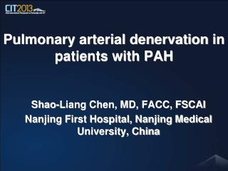 Pulmonary arterial denervation  in patients with PAH