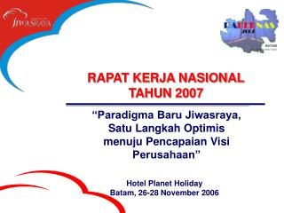 RAPAT KERJA NASIONAL TAHUN 2007