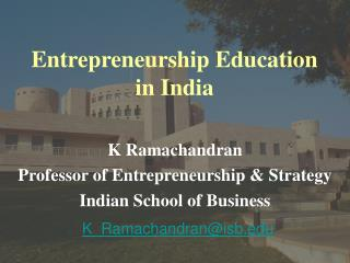 Entrepreneurship Education in India