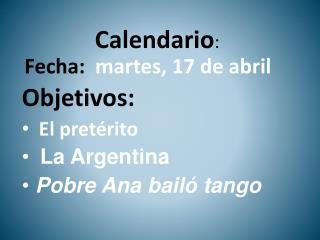 Calendario :