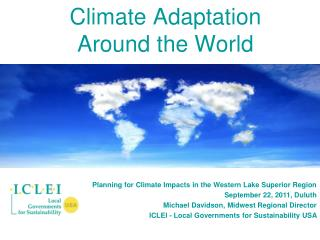 Climate Adaptation Around the World