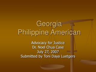 Georgia  Philippine American