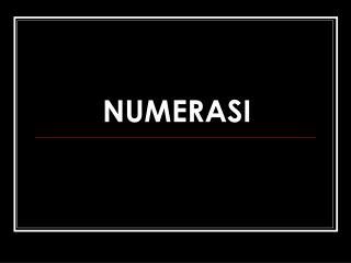 NUMERASI