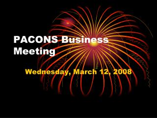 PACONS Business Meeting