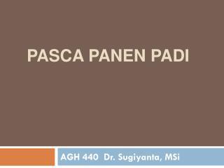 PASCA PANEN PADI