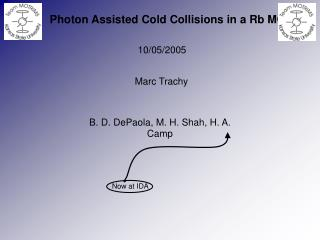 Photon Assisted Cold Collisions in a Rb MOT