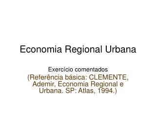 Economia Regional Urbana