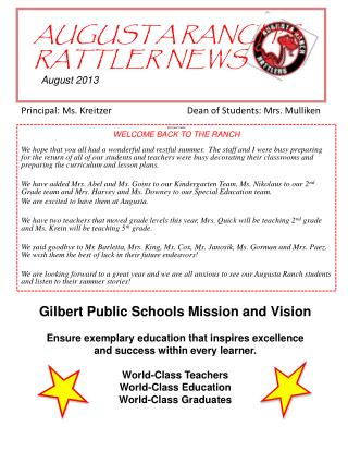 AUGUSTA RANCH'S    RATTLER NEWS August 2013