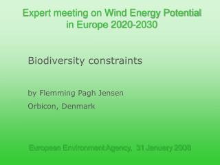 European  Environment  Agency,  31  January  2008