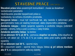 STAVEBN  PR CE STN 736133