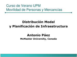 Curso de Verano UPM Movilidad de Personas y Mercancías