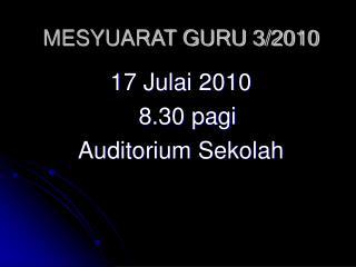 MESYUARAT GURU 3/2010