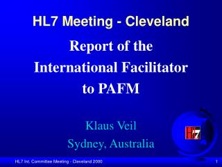HL7 Meeting - Cleveland