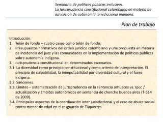 Seminario de políticas públicas inclusivas.