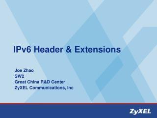 IPv6 Header & Extensions