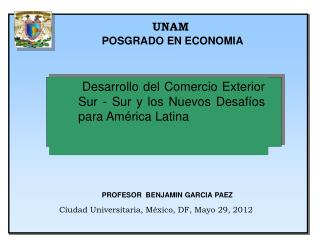 UNAM POSGRADO EN ECONOMIA