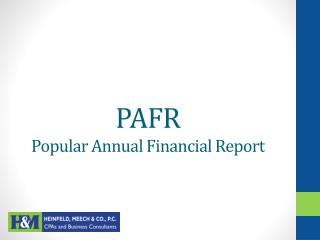 PAFR Popular Annual Financial Report