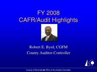 FY 2008  CAFR/Audit Highlights