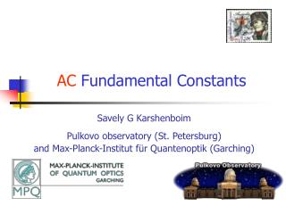 AC  Fundamental Constants