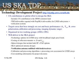 Technology Development Project  skatdp.astro.cornell