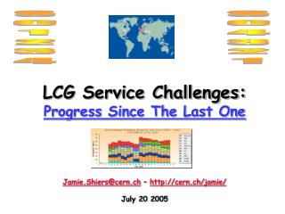 LCG Service Challenges: Progress Since The Last One Jamie.Shiers@cern.ch  –  cern.ch/jamie/