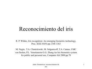 Reconocimiento del iris
