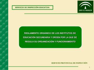 SERVICIO DE INSPECCIÓN EDUCATIVA