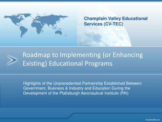 Roadmap to Implementing (or Enhancing Existing) Educational Programs
