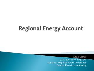 Regional Energy Account