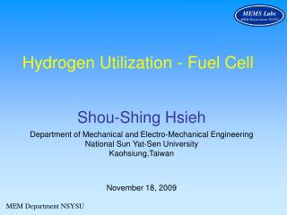 Hydrogen Utilization - Fuel Cell