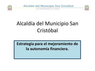 Alcaldía del Municipio San Cristóbal