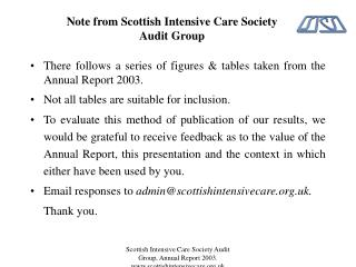 Note from Scottish Intensive Care Society Audit Group